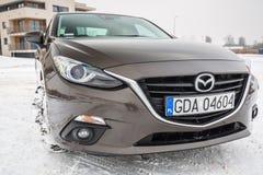 Carro compacto Mazda 3 Foto de Stock