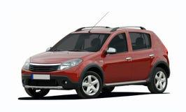 Carro compacto vermelho Fotografia de Stock Royalty Free
