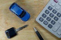 Carro compra-venda do aluguel para o conceito do negócio Foto de Stock Royalty Free