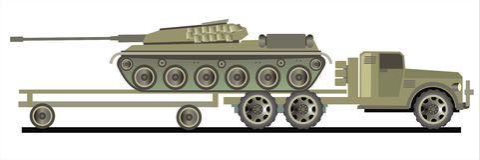 Carro con el tanque Imagen de archivo libre de regalías
