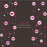 Carro con los corazones Imagen de archivo libre de regalías