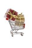 Carro con los regalos imágenes de archivo libres de regalías