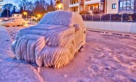 Carro congelado Fotografia de Stock Royalty Free