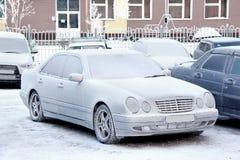 Carro congelado imagens de stock