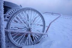 Carro congelado de la leche por el mar Fotografía de archivo libre de regalías