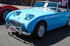 Carro convertível azul do vintage Foto de Stock Royalty Free