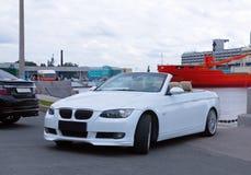 Carro convertível luxuoso alemão na feira automóvel Imagem de Stock