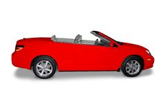 Carro convertível vermelho Imagens de Stock Royalty Free