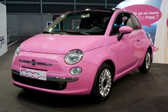 Carro cor-de-rosa Fotografia de Stock Royalty Free