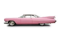 carro cor-de-rosa do clássico de cadillac Fotografia de Stock Royalty Free