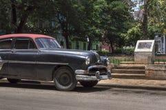 Carro cubano preto Fotografia de Stock Royalty Free