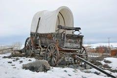 Carro cubierto de la antigüedad Fotografía de archivo libre de regalías