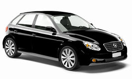 carro 3D preto brilhante contemporâneo Imagens de Stock Royalty Free