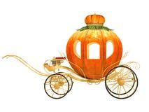 Carro da abóbora do conto de fadas de Cinderella Fotografia de Stock Royalty Free