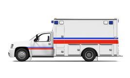Carro da ambulância isolado Fotografia de Stock Royalty Free