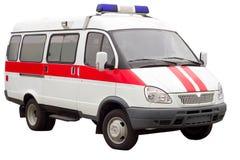 Carro da ambulância isolado Fotos de Stock Royalty Free