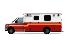 Carro da ambulância isolado Imagens de Stock Royalty Free