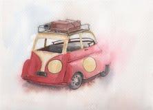 Carro da aquarela Imagem de Stock