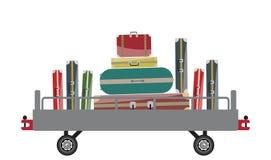 Carro da bagagem do aeroporto ilustração do vetor