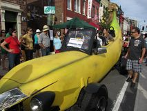 Carro da banana Imagens de Stock