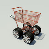 Carro da compra de Turbo Fotografia de Stock Royalty Free