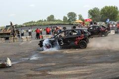 Carro da demolição na ação Imagem de Stock Royalty Free