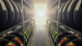 Carro da distância com pneus Imagem de Stock Royalty Free