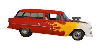 Carro da haste quente com pintura flamejante Imagem de Stock Royalty Free
