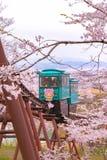 Carro da inclinação no parque do castelo de Funaoka em Miyagi, Japão fotos de stock