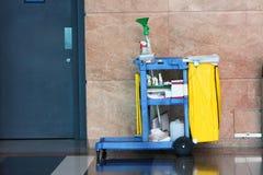 Carro da limpeza Fotografia de Stock