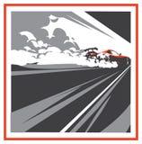 Carro da neutralização, esporte japonês da tração, competência da rua ilustração royalty free