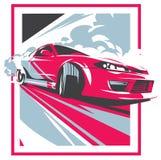 Carro da neutralização, esporte japonês da tração, JDM, ilustração stock