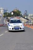 Carro da polícia Polícia de trânsito Tyumen, Rússia Fotografia de Stock Royalty Free