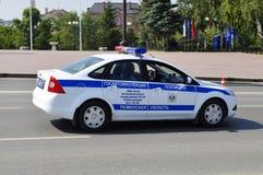 Carro da polícia Polícia de trânsito Tyumen, Rússia Imagens de Stock Royalty Free