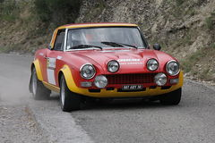 Carro da reunião de Fiat 124 Abarth Fotos de Stock
