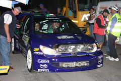 Carro da reunião de Peugeot 206 WRC imagens de stock