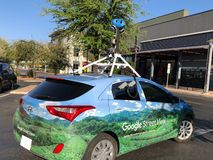 Carro da rua de Google fotos de stock