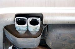 Carro da tubulação de exaustão Fotografia de Stock Royalty Free