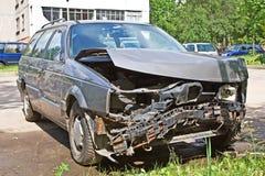 Carro danificado Imagens de Stock