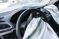 Carro danificado Fotos de Stock Royalty Free