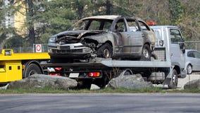 Carro danificado Fotografia de Stock