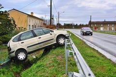 Carro danificado dois Foto de Stock Royalty Free