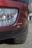 Carro danificado - risco Fotografia de Stock Royalty Free