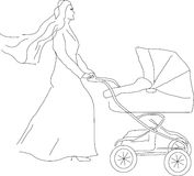 Carro das crianças Imagem de Stock Royalty Free