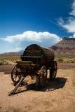 Carro de agua del oeste viejo fotos de archivo