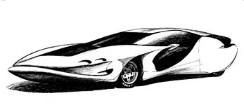 Carro de alta velocidade Foto de Stock