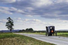 Carro de Amish imagem de stock