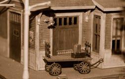 Carro de bagagem, diminuto Imagem de Stock