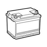 Carro de bateria ilustração do vetor
