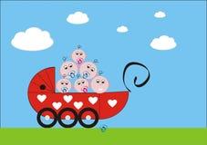 Carro de bebé Imagen de archivo